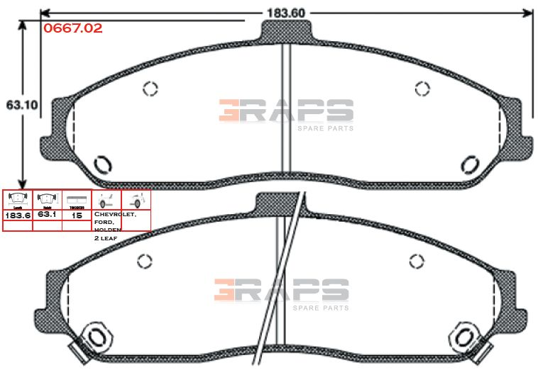 remsa brake pads 7599 ford ba gt front c5 c6 pbr twin